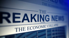 4K. Newspaper with breaking news titles. stock video