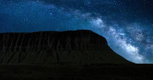 A 4K Night lapse of the iconic Benbulbin mountain in County Sligo, Ireland. Includes amazing footage of the milky way. stock video footage