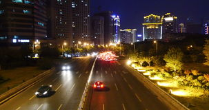 4k nighttime traffic in an urban city,China highway road street timelapse. Gh2_08165_4k stock video