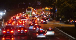4k nighttime traffic in an urban city,China highway road street timelapse. Gh2_08166_4k stock footage