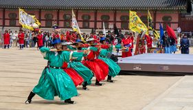 K?nigliches Kultur-Festival, Seoul, Korea stockbild