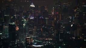 4K nocy miastowy w centrum biznes i finanse okręg w Bangkok zbiory