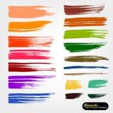 K?nstlerischer Hintergrund des Vektors Gespeicherte Palettendateib?rsten Farbige Farbe, Acrylb?rste, gouashe B?rstenanschlag, Lin lizenzfreie abbildung