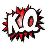 k O Les bandes dessinées réservent le ballon des textes, image tramée de rouge de vecteur illustration de vecteur