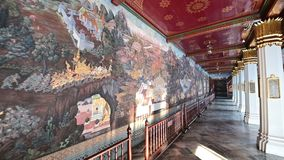 4K obraz na ściennej ramayana opowieści przy Uroczystym pałac zdjęcie wideo