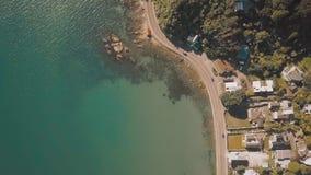 4k oceaanweg die Lengte duidelijk maken stock videobeelden