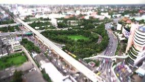 4K Odgórnego widoku Bangkok miasta plandeki przesunięcie zbiory wideo