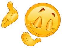 Kłonienia puszka emoticon Fotografia Stock