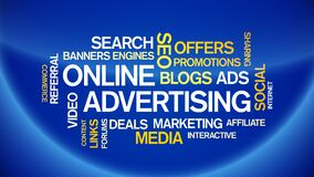 4k Online Advertising Animated Tag Word Cloud,Text Design Animation Typography.