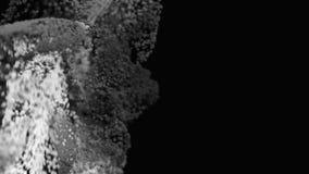 4K Organicznie cząsteczki płyną upwards ilustracji