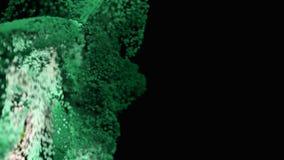 4K Organicznie cząsteczki płyną upwards royalty ilustracja