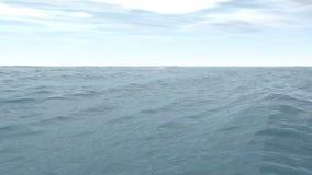 4k overzees oceaan vloeibaar water die, van het de golfmilieu van de aardnevel de energieplaneet stromen stock footage