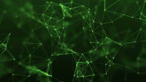 4k pętli abstrakcjonistycznej technologii geometrical tło z liniami i kropkami royalty ilustracja
