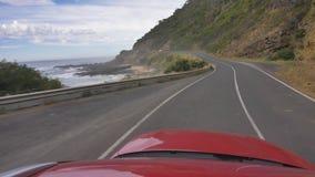 4k 60p большая береговая линия дороги океана drving POV, Австралия сток-видео