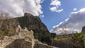 4K Palamidi堡垒的timelapse在纳夫普利翁,希腊 股票视频