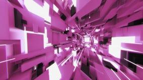 4K Pan Across Futuristic Interior avec les rayons légers illustration de vecteur