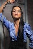 kąpanie kobieta Fotografia Royalty Free