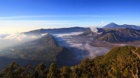 4K Panning timelapse Of Bromo volcano at sunrise, East Java, Indonesia stock video