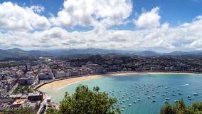4K panoramiczni widoki San Sebastian Fotografia Royalty Free