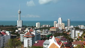 4K Pattaya city and Gulf of Siam stock video