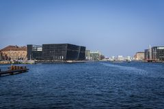 K?penhamnhamn, central K?penhamn, Danmark royaltyfri bild