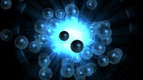 4k perle des particules de poussière de feux d'artifice, bulles de boursouflure, fond magique de tunnel d'anneau illustration de vecteur