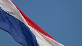 4K Piękna flaga Chorwacja falowanie w wiatrze Tricolour dmucha