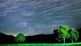4K Piękna gwiazda Wlec Milky sposobu upływ zbiory wideo