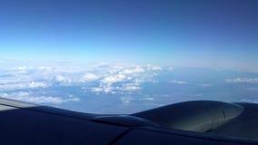 4K Piękne chmury jak widzieć samolotowego okno z góry P?aska podr?? zbiory