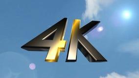 4K pictogram achterwolken stock videobeelden