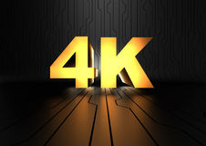 4K pictogram (UHDTV). Computer generated image (3D render Stock Photography