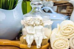 Kąpielowi akcesoria osobiste higien rzeczy Fotografia Royalty Free