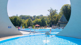 Kąpielowy kompleks, Miskolctapolca Zdjęcia Stock