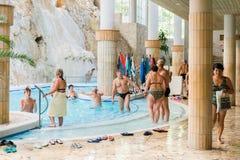 Kąpielowy kompleks, Miskolctapolca Fotografia Royalty Free