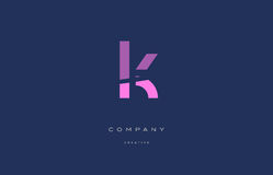 K pink blue alphabet letter logo icon Royalty Free Stock Photography