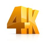 4K pojęcie Obraz Royalty Free