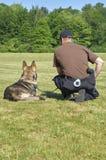 K9 police dog and officer