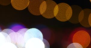 4k Potrząsalny oświetlenie przy nocą, wiele samochody na wiadukcie, ruchów drogowych dżemy złudzenie sen zbiory wideo