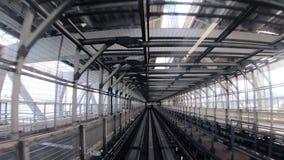 4K POV Timelapse del treno commovente a Tokyo video d archivio