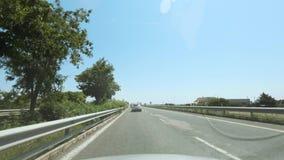 4k POV timelapse jeżdżenie na autostradzie w Południowym Włochy zbiory