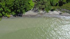 4k Powietrzny materiał filmowy Jeziorne fale zbiory