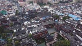 4k powietrzny wideo Yuyuan ogród w Szanghaj, Chiny zbiory wideo