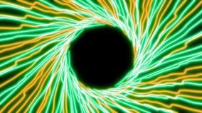 4K pozafioletowego światła Abstrakcjonistyczne rozjarzone neonowe linie ilustracja wektor