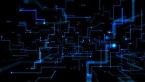 4K prick och linje begrepp för flyttning för bakgrund för abstrakt begrepp för animering 3D mörk för anslutning för nätverk för ö vektor illustrationer