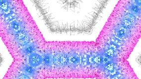 4k puliscono il fondo animato caleidoscopico geometrico nel ciclo, poli stile basso Animazione senza cuciture 3d con la pendenza  illustrazione di stock