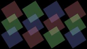 4k quadrano il modello della matrice del mosaico del tangram, carta di plastica della carta, scatola di geometria frattale illustrazione vettoriale