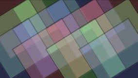 4k quadrano il modello della matrice del mosaico del tangram, carta di plastica della carta, scatola di geometria frattale stock footage