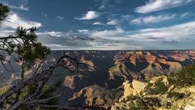4K que move o grampo do filme do filme de Timelapse do parque nacional de Grand Canyon, o Arizona, EUA - opinião norte da borda d video estoque