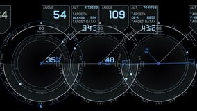 4k Radar GPS signal tech screen display,science sci-fi data computer navigation.
