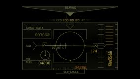 4k Radar GPS signal tech screen display,science sci-fi data computer navigation.